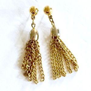 TASSEL Gold Vintage Dangle Earrings